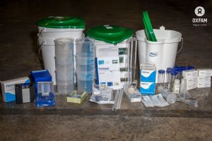 Water measuring and testing kit